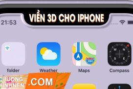 BST Hình nền viền 3D dành cho điện thoại Iphone tai thỏ X/XS/XSM/XR/11/11Pro/11ProM